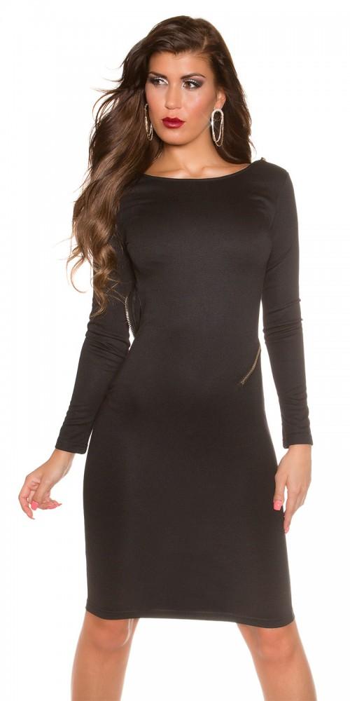 Sexy KouCla Kleid Cocktailkleid rückenfrei in schwarz