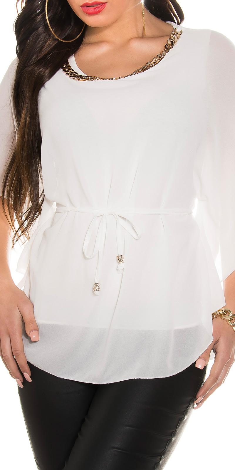 Koucla Shirt Top T-Shirt gestreift mit Knöpfen