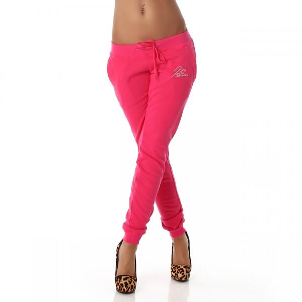 Sexy Jogginghose mit silberner Schrift in pink